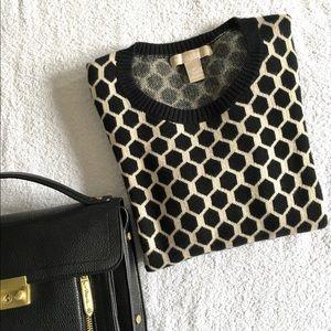 Banana Republic Hexagon Geometric Sweater